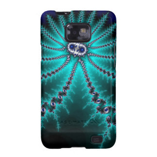 Blue and Green Octopus Fractal Samsung Galaxy S2 Cases