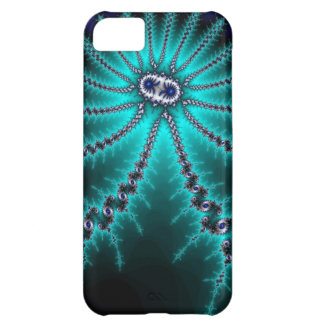 Blue and Green Octopus Fractal iPhone 5C Cases