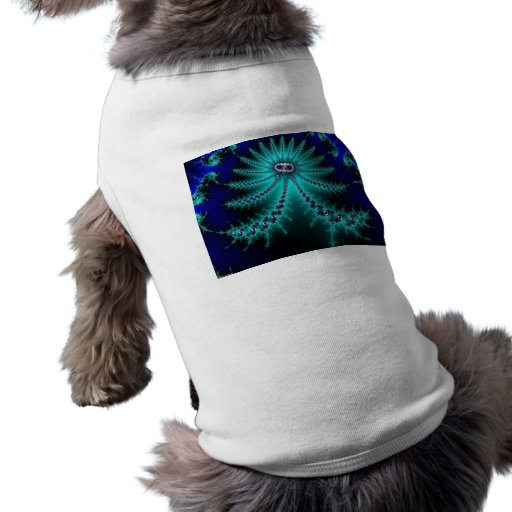 Blue and Green Octopus Fractal Pet Clothes