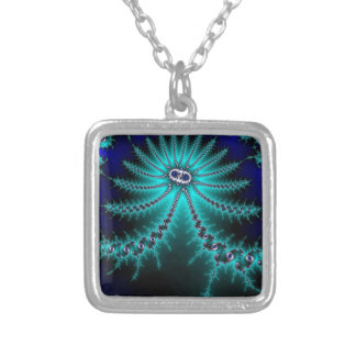 Blue and Green Octopus Fractal Custom Jewelry