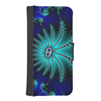 Blue And Green Octopus Fractal Phone Wallet