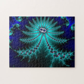 Blue and Green Octopus Fractal Puzzles