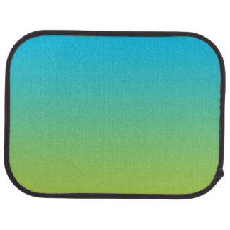 """Blue And Green Ombre"" Car Carpet"