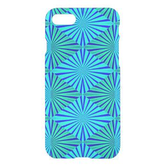 Blue and green Op Art  diamonds iPhone 8/7 Case