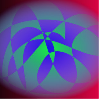 Blue and Green Passion Photo Cutout