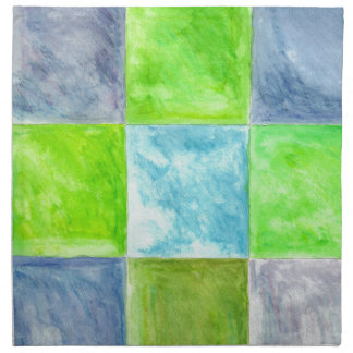 Blue and Green Pattern Napkin