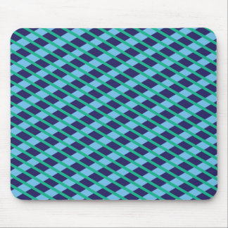 Blue and Green Patterned Mouse Pad
