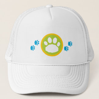 Blue and Green Paws Animal Pet Lover's Trucker Hat