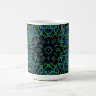 Blue and Green Peony Coffee Mug