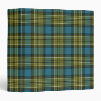 Blue and Green Plaid 3 Ring Binder