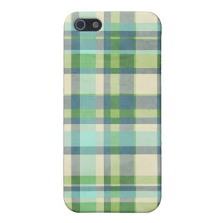 Blue and Green Plaid Cover For iPhone 5/5S