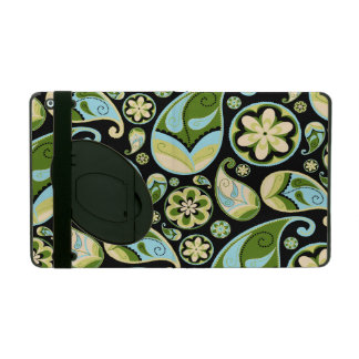 Blue and Green Retro Paisley Cover For iPad