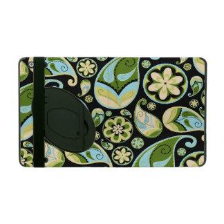 Blue and Green Retro Paisley iPad Folio Case
