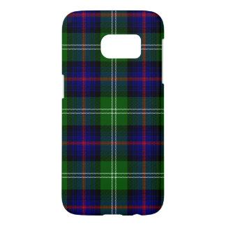Blue and Green Scottish Clan Sutherland Tartan Samsung Galaxy S7 Case