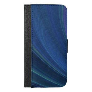 Blue And Green Soft Sand Waves iPhone 6/6s Plus Wallet Case