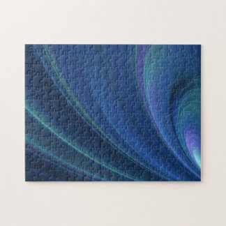 Blue And Green Soft Sand Waves Puzzle
