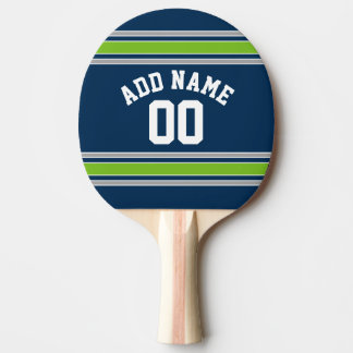 Blue and Green Sports Jersey Custom Name Number Ping Pong Paddle