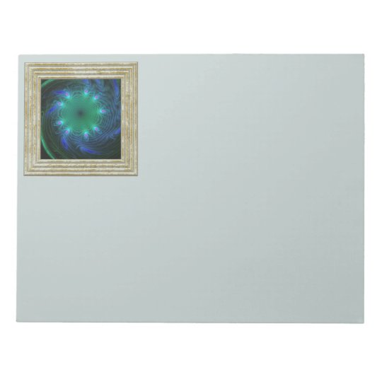 Blue And Green Swirl Notepad