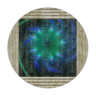 Blue And Green Swirls Cutting Board