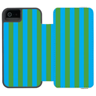 Blue and Green Vertical Stripes Incipio Watson™ iPhone 5 Wallet Case