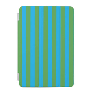 Blue and Green Vertical Stripes iPad Mini Cover