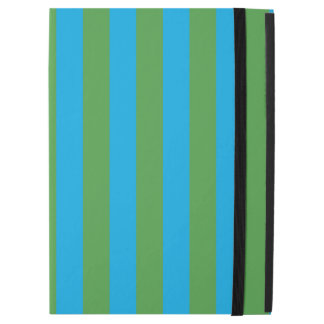 """Blue and Green Vertical Stripes iPad Pro 12.9"""" Case"""