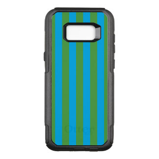 Blue and Green Vertical Stripes OtterBox Commuter Samsung Galaxy S8+ Case