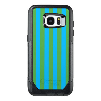 Blue and Green Vertical Stripes OtterBox Samsung Galaxy S7 Edge Case