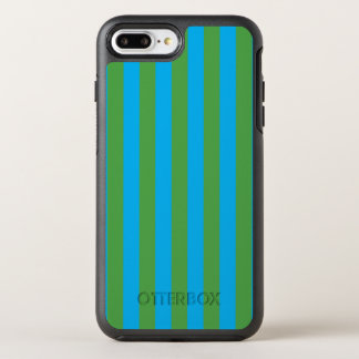 Blue and Green Vertical Stripes OtterBox Symmetry iPhone 8 Plus/7 Plus Case