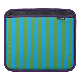 Blue and Green Vertical Stripes Sleeve For iPads