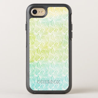 Blue and Green Watercolor Waves OtterBox Symmetry iPhone 7 Case