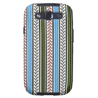 Blue and Green Zippers Galaxy S3 Case