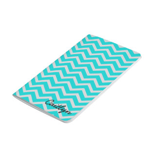 Blue and Grey Chevron Bound Journal