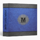 Blue and Grey Leather Binder