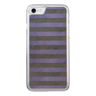 Blue and Grey Stripes Pattern Watercolor Texture Carved iPhone 8/7 Case