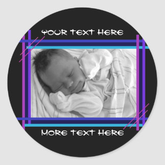 Blue and Indigo Abstract Frame Stickers