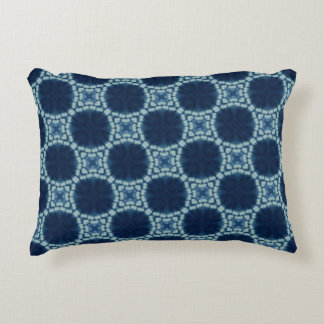 Blue and Indigo Pattern Accent Pillow