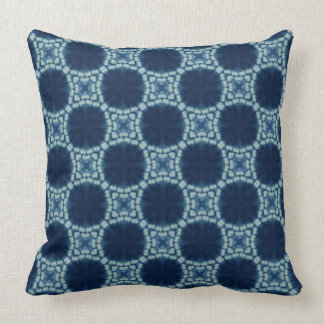 Blue and Indigo Pattern Throw Pillow