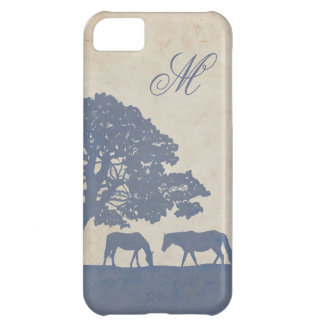 Blue and Ivory Vintage Horse Farm Wedding iPhone 5C Case