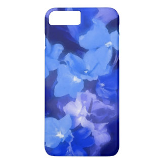 Blue and lavender flowers iPhone 7 plus case