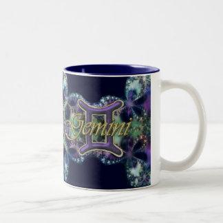 Blue and Lavender Lace Zodiac Sign Gemini Mug