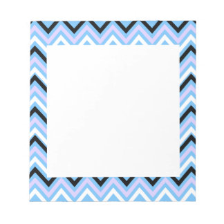 Blue and Lilac Chevron Pattern Notepad