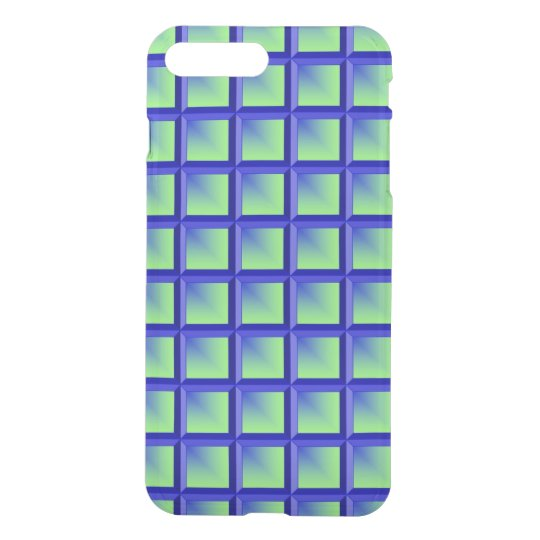Blue and Lime Bevel iPhone 7 Plus Case
