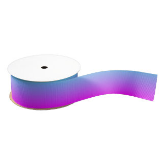 Blue and Magenta Ombre Grosgrain Ribbon