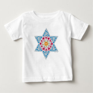 Blue and Magenta Vintage Star of David - Magen Dav Baby T-Shirt