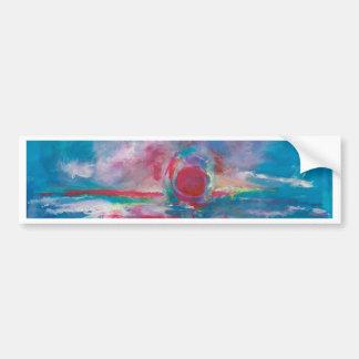 Blue and Mauve Sunset Bumper Sticker