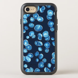 Blue and Navy Blue Leaves OtterBox Symmetry iPhone 8/7 Case