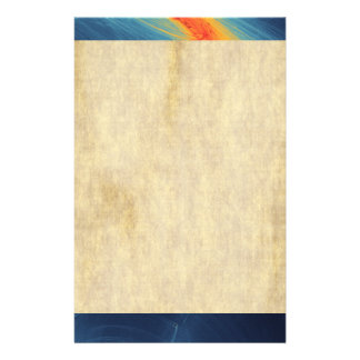 Blue and Orange Abstract Design Stationery