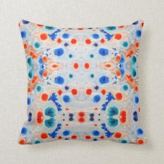 Blue and Orange Art throw pillow