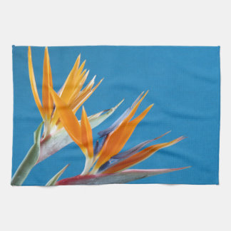 Blue and orange bright floral towell kitchen towel